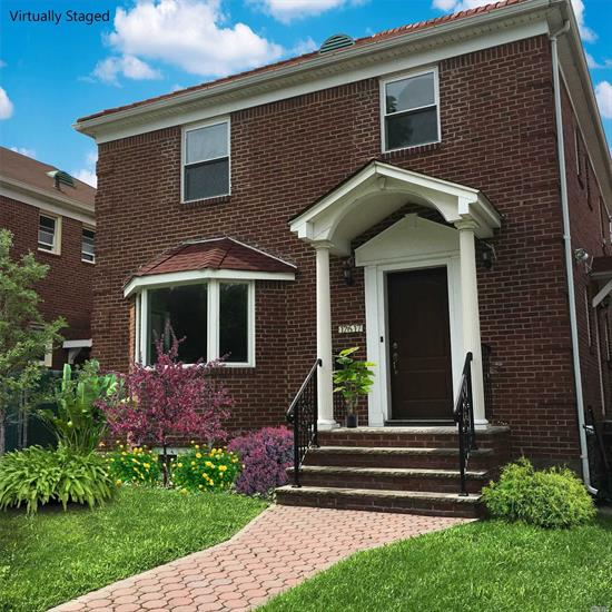 Beautiful Large Colonial with 4 bedrooms, 3.5 Bathrooms, completely renovated from top to bottom. Master bedroom with bath 1 st floor bedroom and bath. Close to houses of worship, shopping, and schools.