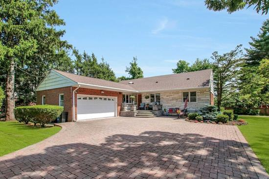 Large Farm Ranch, Commack Schools, Custom Built w/Steel Beams, Over 2300 Sq Ft Living Space (Plus Additional 1500 Sq Ft Full Finished Basement (Possible mother-daughter-daughter with proper permits), Large and Bright Rooms, Excellent Condition, New Roof (2018), IGS, Very Private, Fenced, 1/2 Acre w/IG Pool (with Solar Heat), Large Trex Deck, Gazebo, Koi Ponds, Horseshoe Pit, Swing Set, Shed, Marble Window Sills, CAC, Close to Beaches & Parks. Don't Eyeball! This is THE ONE!