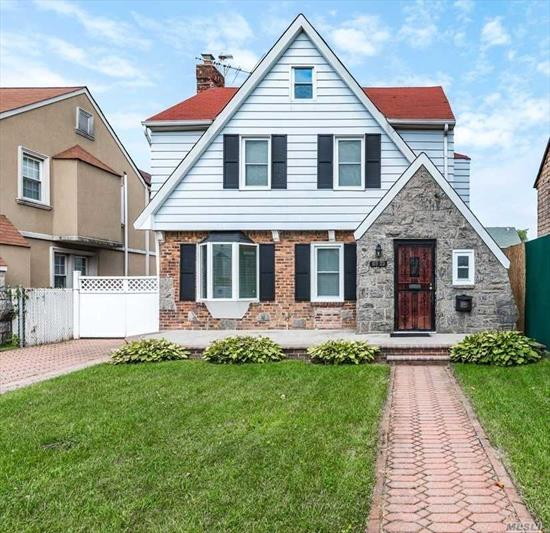 This lovely, sturdy, colonial features a bright white modern eat in kitchen with a center island, updated baths, great block, southern exposure, all high end appliances, built in humidity control system and great yard. Convenient location, close to buses and shops.