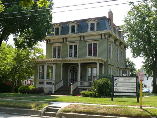 Great Babylon Village Victorian circa 1865. Prime location. Fully renovated. Office use only. Across the street from the Babylon Post Office and a short walk to the Babylon Train Station.