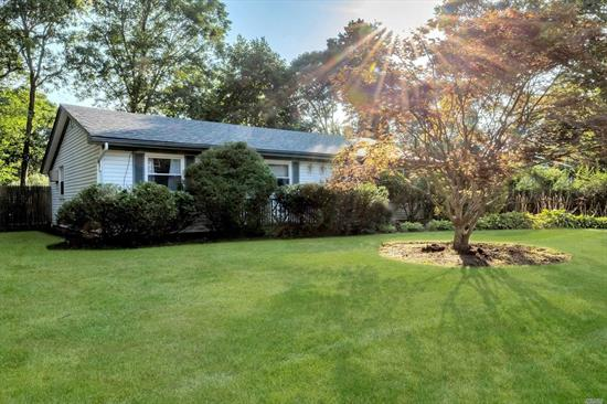 A great opportunity to own south of the highway as this is one of the best values in East Moriches. Cute well kept ranch on a flat property with 3 Bedrooms & 2 Full Baths. This home is larger than it appears from the street, having a nice size den off the kitchen and Large Living Room making this a comfortable home as a starter or downsize. If you're searching for a property that is located in a desirable area and offers a great value, then take a look at this property.