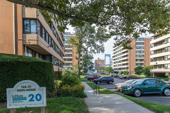 Beechhurst Le Havre One-bedroom with Waterview. All new kitchen- ss appliances, quartz counters, tile floor, and backsplash. Spa bath with tile & marble finishes. Smooth ceilings, hi-hats, custom closets and more! Enjoy the morning sunrise on your private terrace. Conveniently located to Express Bus to NYC & Local Bus to Flushing. Le Havre offers 2 Outdoor Pools, Gym, Tennis Clubhouse, and Cafe.