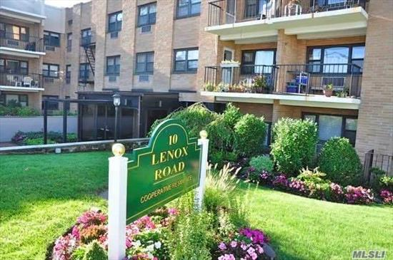 Spacious 2BR, 2 BA unit w/terrace. Foyer, Granite Kitchen, Breakfast Area, Large LR, Master BR,  New Bath, Second BR.Updated Hall BA, Lots of closets for storage, Inviting Terrace, Laundry on the 2nd fl. Close proximity to LIRR, downtown Village eateries and shopping. One car underground parking, RVC School disctrict