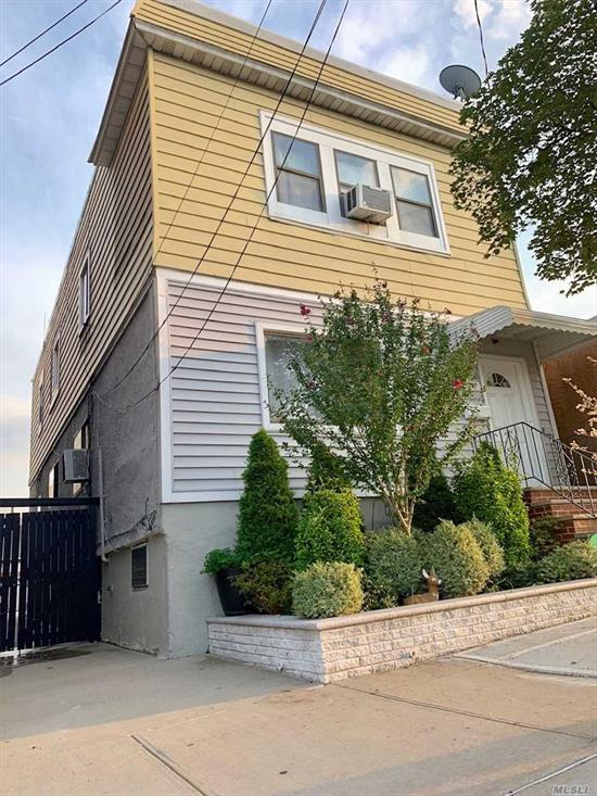 A beautifully maintained 2 family house in a prime Location in College Point is featuring 3 bedroom apt per floor, Full Finished basement with a rear separate entrance, updated roof, new chimney, new backyard, front yard and driveway completion in year 2018, Wood floor throughout the house, sunny and bright! Building 20FTx47.4FT and lot 28FTx100FT. Near to public transportations, shopping center, and schools!