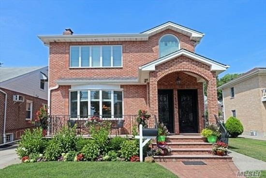 Flushing, Auburndale Legal Detached 2 Family 6 Bedroom 4.5 Bathroom Built In 2014. Builder Own Resident, Featuring Modern Interior With Approximately 2800 Square Feet, Full Finished Basement, Private Backyard, Sited On 50 X 100 Lot, Convenient access to All Amenities And transportations.