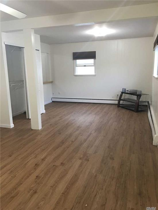 Nice Ground Floor Studio Apartment. Features Living Room/Bedroom Combo, Kitchen and F/Bth,  Heat, Electric and Water are Included. Available for Immediate Occupancy. New Flooring & Freshly Painted. Must See.