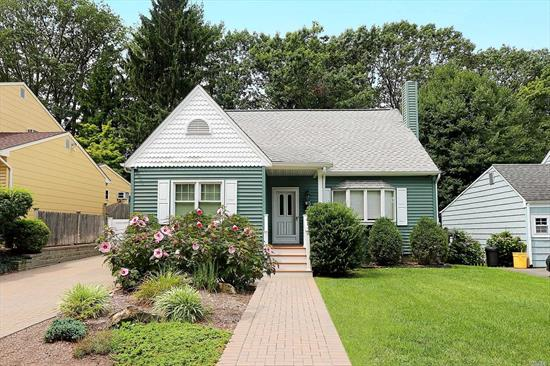 Charming Cape 4 Bedroom, 3 Full Baths, Living Room, Formal Dining Room, EIK with Granite Countertops and Stainless Steel Appliances, Full Finished Basement, Hardwood Floors, Sonos, CAC, Large Private Backyard