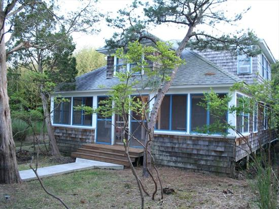 This very large classic Seaview home has 6 bedrooms, 2 bathrooms and is situated on an oversized 80' X 100' lot.  Bright and airy living space with fireplace for those chilly nights.  Spacious deck for outdoor entertaining, as well as a huge screened in porch!  Centrally located to all, only a quick walk or bike ride into the Village of Ocean Beach, Seaview Market & Ferry, or down to the beach!  Great location! Flood insurance: $4,167/year.