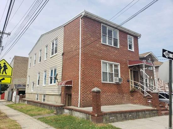 Huge Detached 2 Family Corner House For Sale, 3/4 Above Ground Basement, 1 Detached Car Garage, Plus Two Parking Space,  Convenient Location, Near Bus Stop, Minutes Away From Flushing.