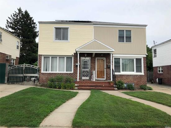 Beautiful Semi-Attached Starter House In Great Location Of Oakland Gardens, 3 Brs Converted From 2 Brs/ 1.1/2Baths/Finished Basement/Split AC/Detached Garage/Huge Deck. Low Prop.Tax With STAR And SOLAR PANELS $ 4, 177 School District 26, Min. Walk To Ps. 162, Ms. 158, Convenient Transportation And Shopping Mall And Mayor Highways