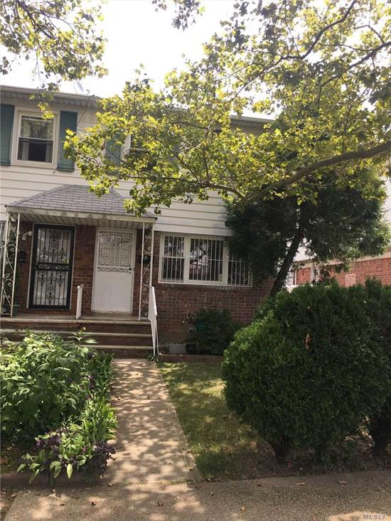 Beautiful large 3BRS, 2.5 bathrooms brick semi-attached 1 family house in prime location of Fresh Meadows. Excellent school 26 district- PS173 & MS216. Freshly painted and refinished hardwood floors. Long private drive way. Bright full finished high head basement with full bathroom. Great potential R-4 zoning. Must see!