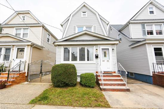 3 Bedrooms , 2 Full Baths , New Gleaming Hard Wood Floors, All New Stainless Steele Appliances, Formal Dining Room, Family room. Nice Yard full finished Basement. Border of Queens and Long Island. Don't Miss Out On This Fantastic Opportunity!!!