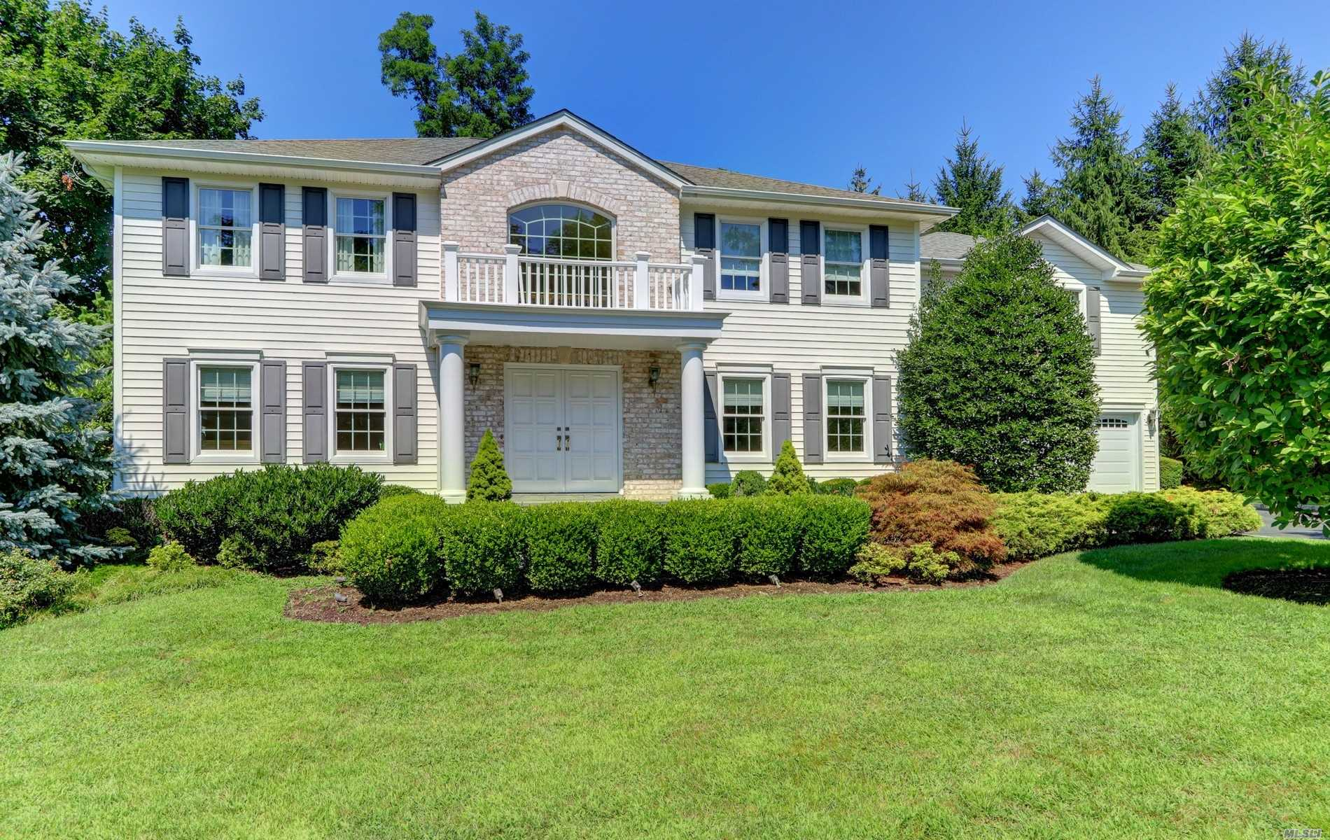 Sophistication & elegance's describes this mint colonial located in the prestigious Red Spring Manor area of Glen Cove. The home features a 2 story entry, formal living room & dinning room, fabulous kitchen/family room, leading to a beautiful private yard w/ saltwater pool and outdoor kitchen. An impressive master bedroom w/spa like bath, 3 add. bedrooms & bath plus, separate upstairs suit complete w/sitting area and private bath. This home is a true gem!!!!