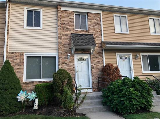 Pet friendly Parklike Community! 3 bedrooms, 1.5 baths AND a basement!! This community has it all. Ceramic tile floors on first floor, Hardwood floors upstairs, Trex deck off kitchen overlooking beautiful grounds with flowers galore and trees. Close to parkway, shopping and more.