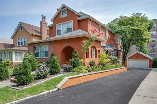 Stunning brand new 2 Family Mediterranean. First fl. Offers a LR with Fip, master bed suite, 2 additional beds and bath. huge EIK and back yard with water views. The lower level has a den, 1 bed, 1 bath Landry rm and storage. Quite and beautiful street.