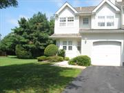 Spacious, Sought After END UNIT in a Beautiful Gated Community. Pool w/showers & baths. Tennis Ct. Master Bedroom has a good size Sitting Room that could be a 3rd Bedroom if desired. Washer/Dryer on 2nd flr. 2 Decks (upper & lower) face a Lush Backyard.
