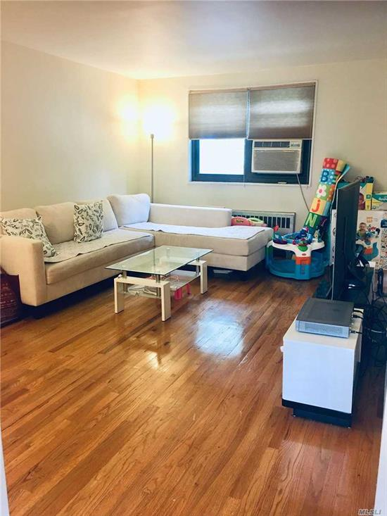 Sunny and Bright Corner Unit 2 Bedrooms Coop in the Heart of Whitestone. Large Living Room, Nice Sized Bedrooms. Tons of Closets, Hardwood Floor Through Out. Washer and Dryer in Unit. Maintenance Included All Utilities(Cooking Gas, Electric, Heat, Water and Taxes),  Close to Public Transportation Bus (Q16 & Q76),  Express Buses to Manhattan (Qm2, Qm20 and Qm32), Great Schools (Ps 209 & Jhs 194). Must See.