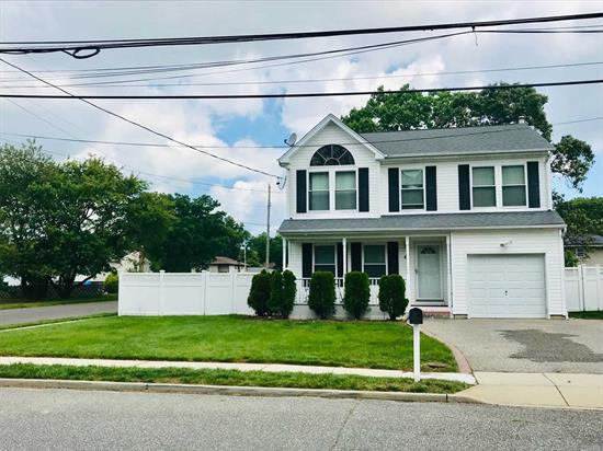 BEAUTIFUL COLONIAL WITH LOTS OF SPACE! CONVENIENTLY LOCATED OFF RTE 110 NEAR AMITYVILLE VILLAGE & SOUTHERN STATE! LARGE BEDROOMS, MASTER HAS LARGE WALK IN CLOSET W/ AN ENSUITE. HARD WOOD FLOORS & TILE FLOORING ON 1ST FLOOR, CARPET UPSTAIRS. FRESHLY PAINTED HOME W/ BACKYARD ACCESS OFF OF DEN! DONT MISS THIS BEAUTIFUL HOME!