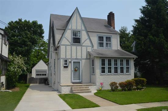 *** SUPER LOW TAXES *** Charming 3 Bedrm, 1.5 Bath Colonial located in prime mid Baldwin location, in Plaza Elementary School, just blocks from the LIRR. This home features higher ceilings on the 1st floor, Large LR, Formal Dining Room, Den/Office, Full basement and Beautiful Yard.