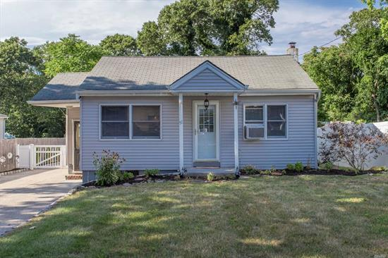 Adorable 3 Bedroom, 1 Bath Ranch: Updated Kitchen, Brand New Bath, Gas Heat, Large Deck w/Electric, Upgraded 200 Amp Service, Fully Fenced Yard. Must See!!