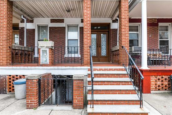 Great Investment in the heart of Astoria, attached 2Fam Brick House with Comfortable high ceiling, 2 balconies. Hardwood floor 5BR/2BA, Full finished Basement separate entrance. Front and back balconies with a nice vegetable garden. 1st floor 2BR/1BA, elk, formal dining room, balcony. 2nd floor 3BR/1BA elk, Skylight, 1 block to Steinway St. Close to restaurants, and transportation, easy access to Grand Central and B.Q.E All Information is Deem Accurate But Should Be Independently Verified.