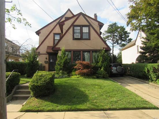 Charming one family home with large living and dining rooms and spacious bedrooms located in highly sought Cord Meyer section of Forest Hills. Private driveway with finished basement on a large 5, 000 sq. foot lot (50x100 lot)! PS 196, close to Queens Blvd., transportation and shopping. Also provides easy access to Grand Central Parkway, short ride to NYC airports! Must see!