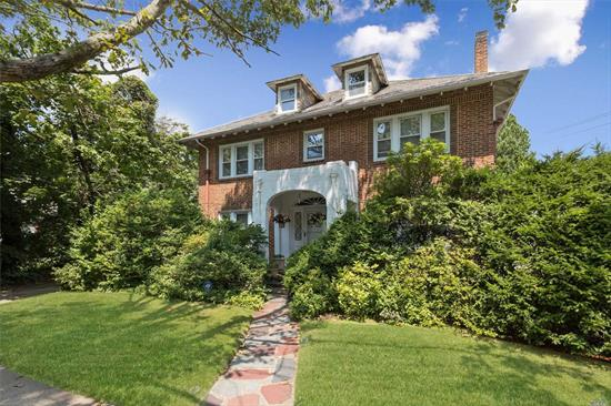 Stately Brick Ch Colonial On Exclusive Browers Point Branch In Old Woodmere. Home Features: Beautiful Entry Hall W/9 Foot Ceilings, Hardwood Floors Thru-Out, Formal Living Room W/Fpl, Dining Room, Den, Sunroom, Gas Heat, Eat-In-Kitchen W/Butlers Pantry, 1/2 Bath, 200 Amp Electric, Laundry, Mudroom&Patio. 2nd Flr:Master Bedroom Suite, 3 Bedrooms, Full Bath & Maids Quarters W/Fu