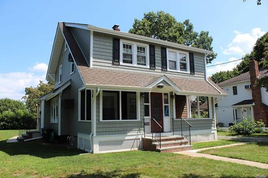 Completely renovated from top to bottom with modern kitchen and bath. Located in the heart of picturesque Northport Village. Enjoy the beautiful flat yard, or fully enclosed front porch. Driveway for parking, lawn maintenance, snow removal and water incl.