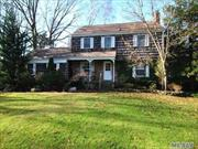 This lovely 4 br, 2.5bth home is nestled on private .70 acre of serene property with in ground pool.  House boasts hw floors, large lr w/fireplace, updated eik, master bedroom w/ en suite bathroom. Lower level with washer, dryer and storage. House is move in ready and immaculate. Available partly furnished or unfurnished. Three Village School District and access to private beach. Ground care is included in rental price. Available 9/1/2019.