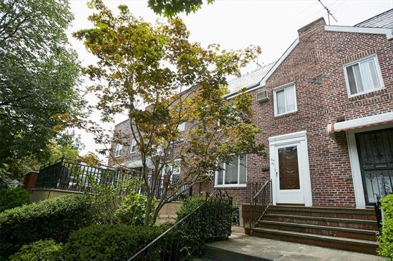 Rare Find 20 footer Townhouse in Heart of Fresh Meadows On Quiet Block! Bright & Spacious Brick Colonial Features 3 Bedrooms, 2.5 Baths. Near Schools, Supermarket, Shops & Transportation, and House of Worship. School District 26 Ps173, JHS 216& Frencis H.S. Finished Walk-In Basement w/ Separate Entrance, R4 Zoning Can Be Convert To Legal 2 Families. Bring Your Decorating Ideas to make it your dream home.