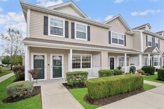 First Floor Corner Unit in this 55 AND OVER ADULT Gated Community. Updates Galore, Front Porch and Back Patio For Grilling. No Transition Easy Clean Laminate Wood Flooring Throughout. Granite Kitchen w/SS Appliances. Central Air And Heat, High Hats, Crown Moldings, Washer/Dryer, Master Bath w/tub. Extra Window In The Master Bedroom. Parklike Backyard w/Easy Access to Additional Parking, Clubhouse with Gym, In-Ground Pool, Library, Billiards and More. Easy Living Comes To Valley Stream.