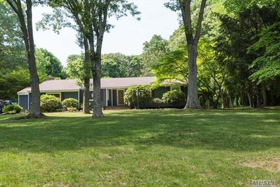 Mint Spacious Three Brm Ranch Set on Flat 1.5 Acre of Property-Home Updates Include Gourmet Eik W/Wet Bar, Updated Appliances; Mst. Suite W/Full Bath; Updated Baths, Windows, Roof, Cac; Cvac; Florida Room Off Den, In-Ground Pool; Full Bsmt, Oak Floors, Must See! Credit Report/References A Must- No Smoking; (tenant must maintain pool care & tenant will maintain ground care.)