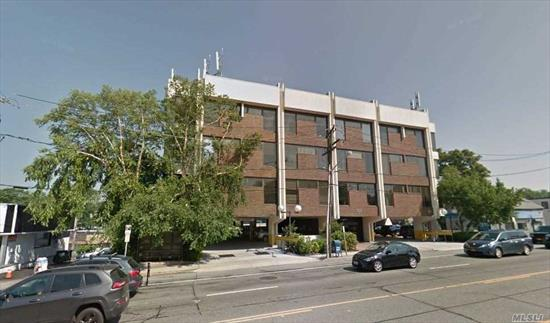 Prime office location. Located on the border of Queens and Nassau. Blocks away from both the Great Neck LIRR Station and Little Neck LIRR Station, a ~20 minute train ride to Manhattan. The building is situated on a fork intersection, diverting large volumes of car and foot traffic towards the building. Close proximity to shopping centers, banks, and eateries . Complete new renovation of Elevators, Lobby, HVAC etc.close to NS/LIJ Hospital. Owner would do build-out. Utilities separate