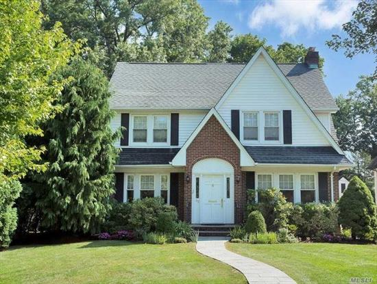 Move right into this beautiful Plandome Heights CH Colonial. 1st Floor Features: LR w/ wood burning frplc, formal dining rm, eat in kitchen w/ breakfast area, inviting family room w/ wood burning frplc and 1 full bath. 2nd Floor Offers: Custom designed master bedroom suite w/ cathedral ceiling, master bath and custom walk in closets, 3 additional bedrooms and 1 full bath. Professionally landscaped property. Conveniently located near transportation and shopping. Award winning Manhasset Schools.