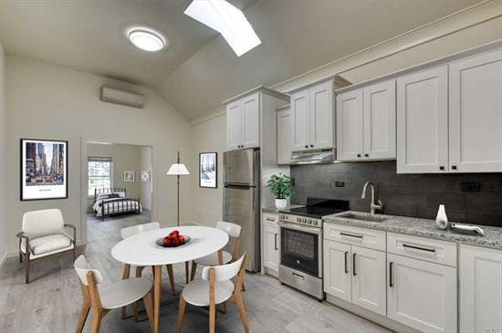 Completely renovated one-bedroom apartment in the heart of Greenport Village. New wood floors, new walls, new windows, new kitchen, new bath, new AC/heat unit, new interior sprinkler system. Enjoy the vibrant activity of the Village just outside your door. Offered for $1, 800/ mo.
