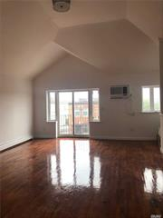 Gorgeous, fully renovated 3BR, 2bath apartment. This beautiful place has everything your family needs. There are HW floors, cathedral ceiling, skylights, balcony, SS appliances, lots of closets. Minutes away from Rockaway Beach and legendary seven mile Boardwalk. Near Subway, Buses and NYC Ferry, Schools, Supermarkets, Pharmacy. Medical Pavilion being built near by for your medical needs. Tenant pays for gas/electric Small pet ok. Street parking. Good credit/income. Call for private viewing.