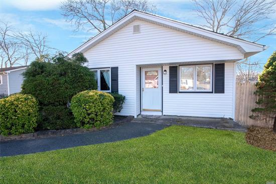 Welcome to Your New Home! Charming 3 Bedroom Ranch is Waiting for Your Approval. Lots New including Roof, Siding, Gutters, Leaders, Refrigerator, and Washing Machine. Imagine Entertaining in Warm and Inviting Living Room with Fireplace or Gather in Formal Dining Room and Eat-In Kitchen. Slider to Side Patio Perfect for BBQ. Fantastic Location Only a Block from Boat and Yachting Club. Fish off the Pier, Feed the Ducks, and Enjoy the Sunsets. This is a Wonderful Opportunity!