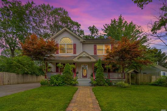 Northport Colonial with Open Floor Plan. Beautiful Flat Yard. Kitchen, Dining, Living Room, and 3 Bedrooms. One Bed on First Floor, 2 Full Baths, Close to All. So Charming, Must See!