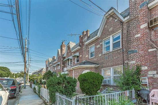 Rare find! 3 Bedroom/2 full Bath Brick house in the heart of Elmhurst with 4 car parking. Easy Access To Highway And To Subway, Queens mall, Park, Shopping, School & Restaurants. House features include full finished Basement with Separate Entrance, New Roof, New Boiler and Much More! Current Zoning Allows Multi Family Homes To Be With Architects consultation !