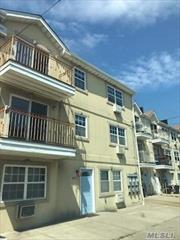 Large, Bright 3 Bedroom 2 Bath with Balcony and Parking Available on a Quiet Dead end block. 1 Block from Rockaway Beach & Boardwalk. Near all means of transportation, A & S Trains, Buses & Express buses into the City. Also Popular Rockaway Ferry Into Sunset Park Brooklyn & Wall Street. Easy to Show.