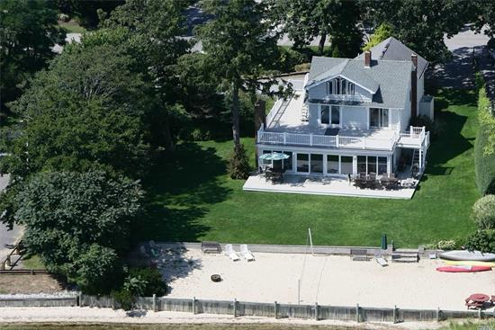 Spectacular Bayfront Views From This Charming & Immaculate Five Bedroom Waterfront Home, Light & Bright Expansive Great Room Leading To Outside Dual Level Deck In An Extraordinary Setting With 130 Ft Water Frontage With Remarkable Bay Views. Private Sandy Beach & Exquisite Landscaping With Specimen Trees & Deeded Deep Water Dock. The Perfect Getaway To Enjoy All The North Fork Has To Offer With Plenty Of Room!
