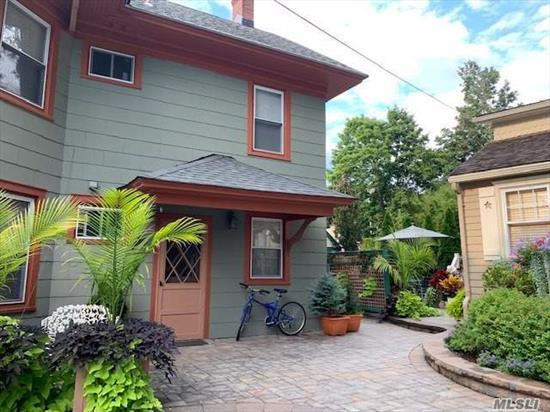 Sunny 1 bedroom apartment right in the heart of Port Jefferson Village. Close to restaurants, shops, and public transportation. Newly redone, spacious, with beautiful architectural ceilings. Freshly painted, professionally cleaned carpets, and a new oven.