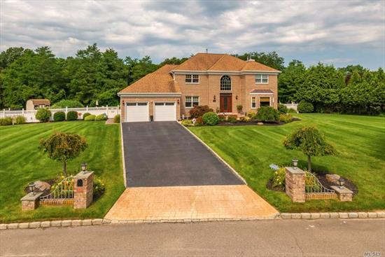 Great Location-Great 2600 sf Brick Colonial-Beautiful Horizons. Look No Further- This is It! Grand Entranceway HW Floors Up & Down, Beautiful Formal Din Rm, Plus Liv Rm/Den w WB Fpl, Half Bath/Laundry Rm, New Granite Kit with Doors to Entertaining Paver Stone Outdoor Kit with L Shaped 20x46x30 IGPool on Spacious & Secluded Acre Prop. Stairs Lead to a Master Ste w Soaking Tub & Shwr, + 3 Guest BRs & Full Bath. Don't forget a Finished & Expansive Lower Level Rec. Rm/Office/Closets, & 2 Car Garage