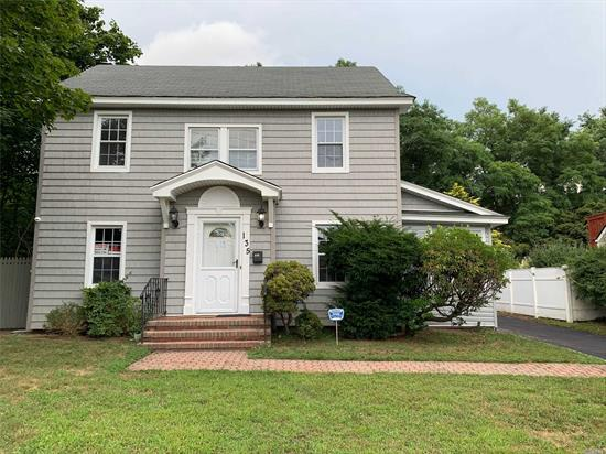 Beautiful Single family Colonial near all amenities offers 3 bedrooms, one full, one half bathroom, family room, living room, spacious kitchen, dining area, sunroom and a full basement. Oil heat, gas cooking, wood floors, two-car garage, spacious backyard with patio. Charming house for your family!