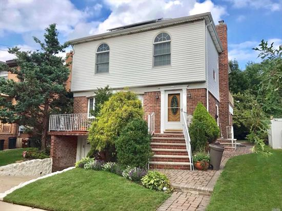 Beautiful Large 1 family,  R3-2 ZONING ,  4, 093 sf Lot With 26x48 Building Size. Central Bay Terrace Area . 5BEDS , 3.5BATH. FINISHED BASEMENT.