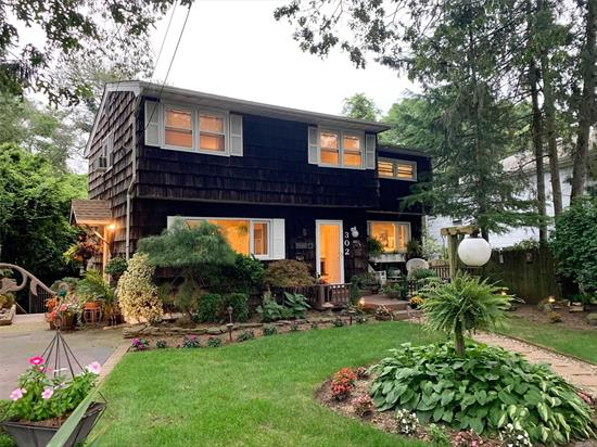 Incredibly Special & Rare 3 Bedroom Colonial On A Park-Like Property With A Tranquil Stream Behind & Lush Garden. Open Floor Plan W/ Great Entertaining Space Including A Living Room With Wood Burning Fireplace, Large Formal Dining Room, Granite Kitchen & Elegant Family Room With Hardwood Floors & Sliding Doors To An Outdoor Upper Level Deck. 3 Spacious Bedrooms Upstairs With 1 Full Bathroom & Seating Area!! Full Walk-Out Basement With Laundry & Storage With Sliding Doors Leading To Lush Gardens