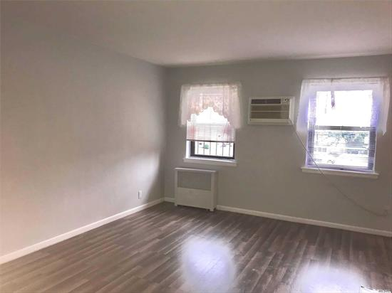 Beautiful, Bright 1 Bedroom Junior, Can be converted to 2 bedrooms, Heat included, Inground Pool, Laundry in Building, Pets Ok, Waiting list for parking, No Flip Tax, 10% down Payment, Great Management, 24 hour Super on premises. Quiet neighborhood, SD 26, walking distance to schools, transportation, LIRR.