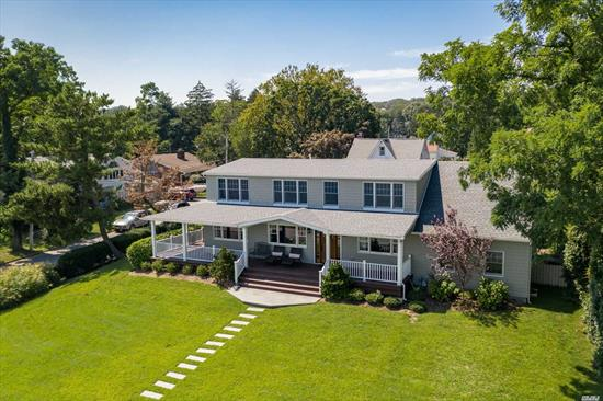 Stunning waterfront showcase home! Impeccably Designed And Detailed For Effortless, Sophisticated Living. Enjoy Sailboat And Sunset Views From Nearly Every Room. Stunning 4Br/3.5Ba Colonial. Magnificent Waterfront Home With Spectacular Sunset Views, Offering The Discerning Homeowner Move-In Ready Sanctuary Living. Bring your boat! The rear driveway is designed to accommodate a boat & garage can fit jet ski & exotic cars. The front porch is massive and designed for entertaining with water views!