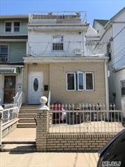 two family, very spacious, three floors of living space located half block from place of worship walking distance from A train