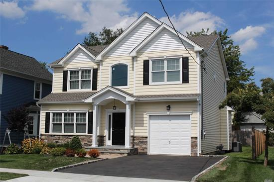 New Custom Col 3, 135 SQ FT incl garage & fin basement; 4 BR, 2.5 Bath. Custom Open Kitchen W/Island & Gas FP w/ Wood Mantel. 2nd flr: MBR Suite 2 Walk In Closets, & Master Bath w/free standing soaking tub & 5 Ft Walk in Shower; 2nd floor laundry w/ Stackable Washer& Dryer; Finished Bsmt approx 770 sq ft w/ heat & AC incl 3 piece full bath and outside entrance. 1 Car Gar w/inside entr & 2 car D/W. Gas heat & cooking, 2 Zone CAC, In Ground Sprinklers, Anderson Windows.